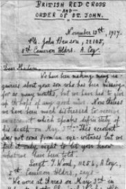1st page of Red Cross letter